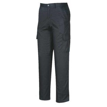 Παντελόνι εργασίας μαύρο με στρατιωτικές τσέπες