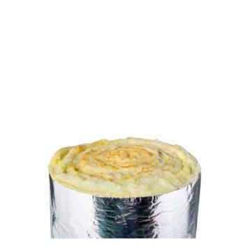 Υαλοβάμβακας θερμομόνωσης με επικάλυψη αλουμινίου