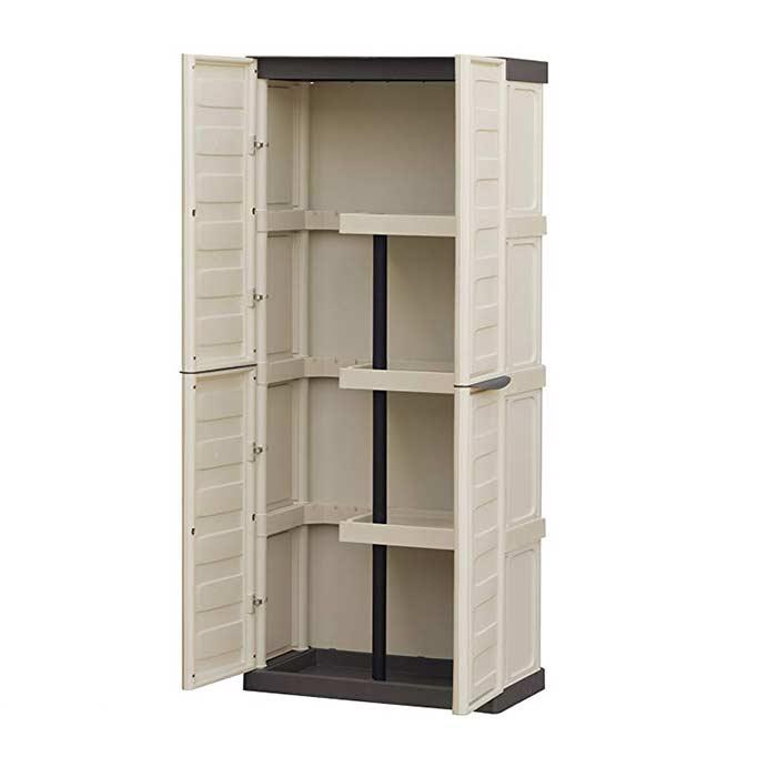 Πλαστική ντουλάπα με ράφια και χώρισμα Artplast