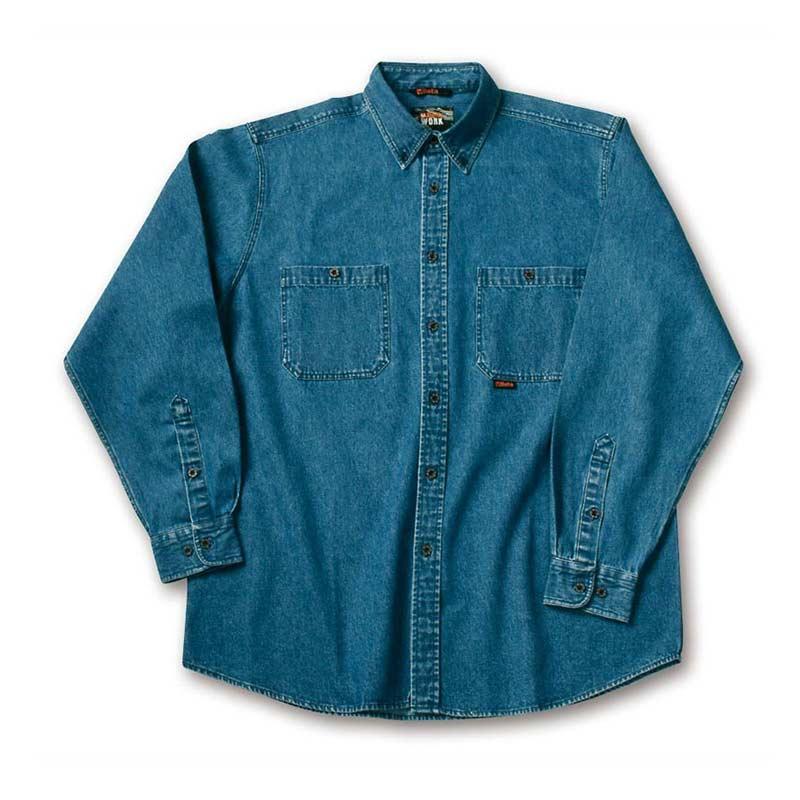 e50188423e83 Τζιν πουκάμισο εργασίας χονδρό ανδρικό μπλε χρώματος Beta - PoliSafety