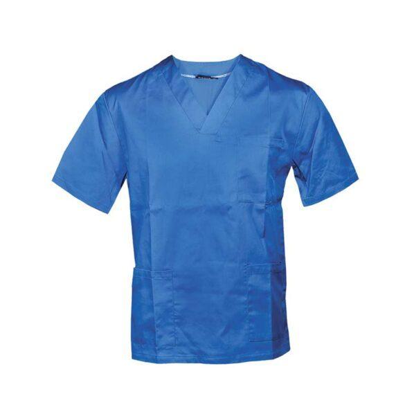 Μπλούζες ιατρικές με τσέπες σε λευκό-ανοιχτό μπλε χρώμα