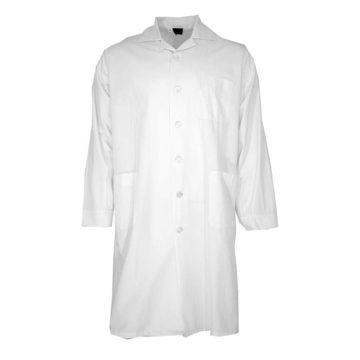 Ρόμπα εργασίας λευκού χρώματος με τσέπες Fageo