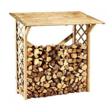 Αποθήκη ξύλων με πάτωμα 80 x 80 x 178cm