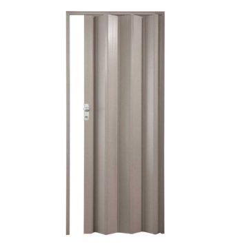 Πτυσσόμενη πόρτα γκρι με κλειδαριά ύψους έως 2.30m
