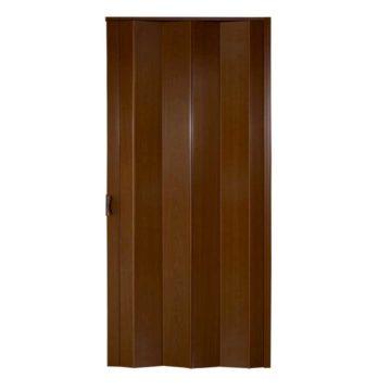 Πτυσσόμενη πόρτα σκούρο καφέ με κλειδαριά ύψους έως 3.05m