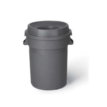 Κάδος απορριμάτων 80 λίτρων πλαστικός με καπάκι με τρύπα