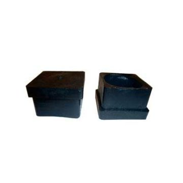 Πλαστικές τετράγωνες τάπες εξωτερικές μαύρες
