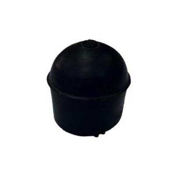 Τάπες PVC στρόγγυλες εξωτερικές μαύρες