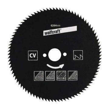 Δίσκος κοπής ξύλου Φ180 Wolfcraft 72 δοντιών Chrome Vanadium
