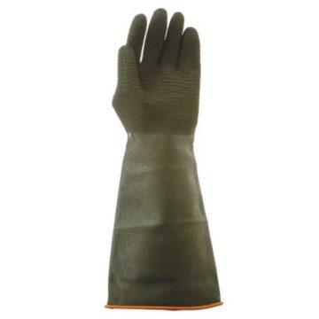 Γάντια ελαστικά χημικών σαγρέ 45 εκατοστών