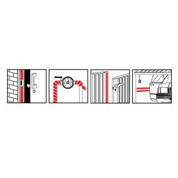 Αυτοκόλλητο μονωτικό λάστιχο πόρτας αφρώδες SARATOGA