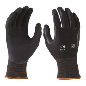 Γάντια νιτριλίου μαύρα εργασίας - προστασίας