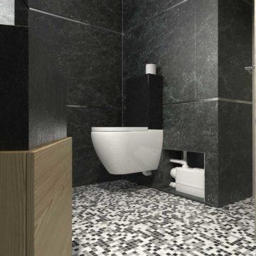 Σταθμός λυμάτων WC με πλαϊνή παροχή DAB Genix WL