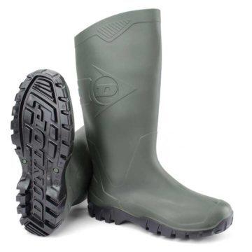 Μπότα γονάτου αδιάβροχη Dunlop Dane πράσινη PVC
