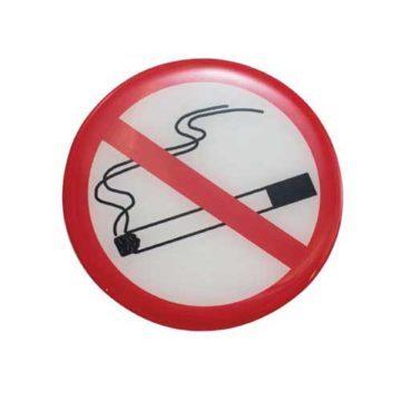 Αυτοκόλλητη πινακίδα Απαγορεύεται το Τσιγάρο στρόγγυλη