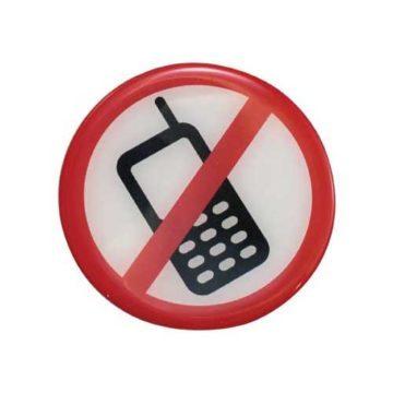 Απαγορεύεται η Χρήση Κινητού Τηλεφώνου στρόγγυλη πινακίδα