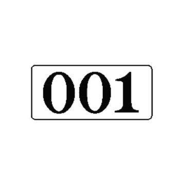 Αυτοκόλλητοι αριθμοί αλουμινίου 5x10 σήμανσης