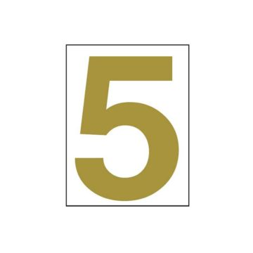 Αυτοκόλλητοι αριθμοί πλαστικοί ABS 7x8.5 σήμανσης χρυσό