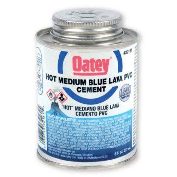 Κόλλα σωλήνων PVC μπλε OATEY Blue Lava
