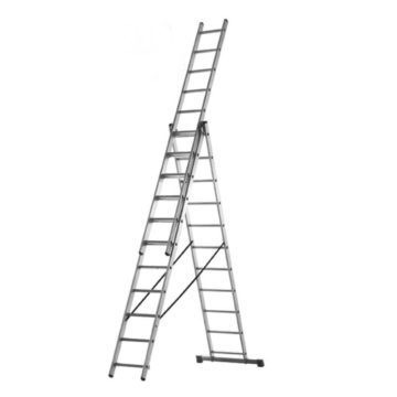 Σκάλα αλουμινίου τριπλή επεκτεινόμενη επαγγελματική 3x9