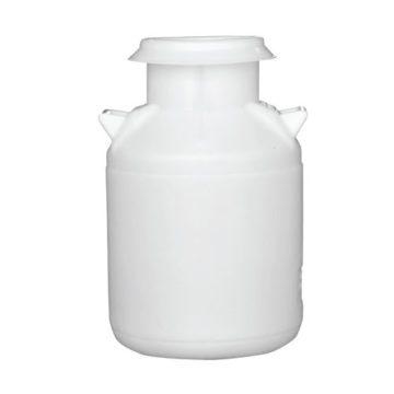 Πλαστικά βαρέλια γάλακτος λευκό και καφέ