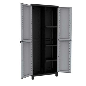 Πλαστική ντουλάπα με χώρισμα δίφυλλη Twist Black ΙΤΑΛΙΑΣ
