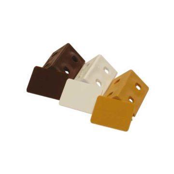 Γωνίες στήριξης ραφιών πλαστικές με καπάκι