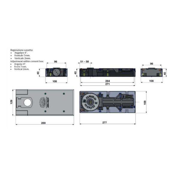 Μηχανισμός επαναφοράς πόρτας δαπέδου ASSA ALBOY 7635