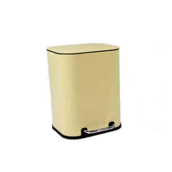 Πεντάλ μπάνιου μεταλλικό κίτρινο 5 L ΠΑΣΤΕΛ