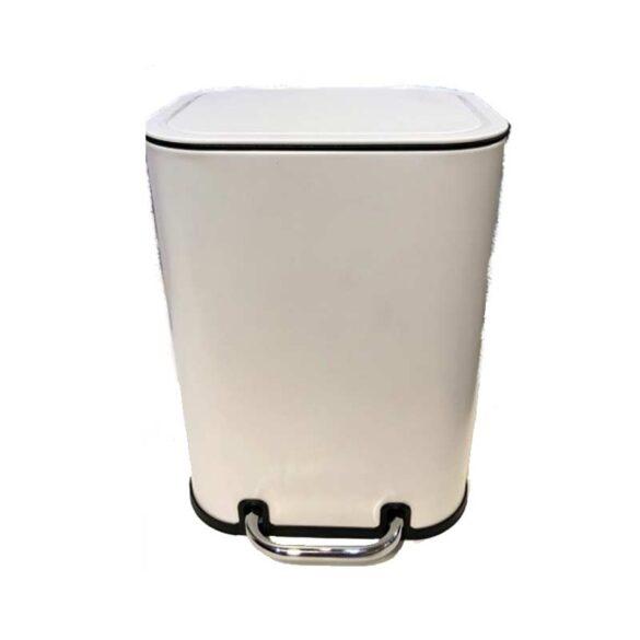 Πεντάλ μπάνιου μεταλλικό με απαλό κλείσιμο 5 L Λευκό
