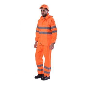 Αδιάβροχη στολή εργασίας με αvακλαστικές ταιvίες ERGOLINE