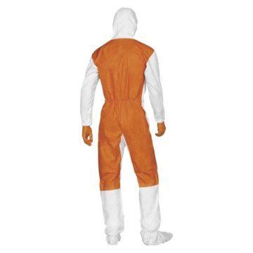 Ολόσωμη φόρμα προστασίας χημικών με κουκούλα DELTA PLUS