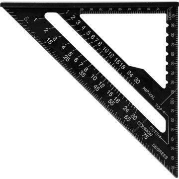 Τρίγωνος χάρακας αλουμινίου 180mm YATO YT-70786