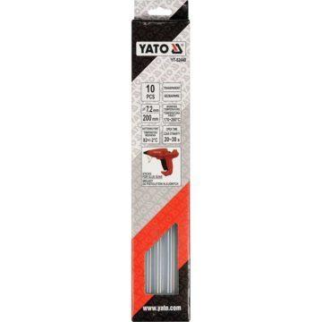 Θερμόκολλα διάφανη σιλικόνης 7.2mm YATO 10 τεμαχίων