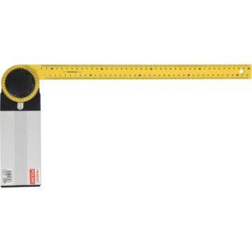 Γωνιακό μοιρογνωμόνιο με χάρακα VOREL 350-500 mm