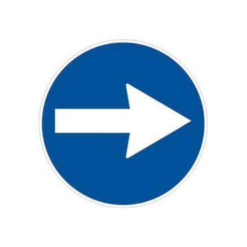 Ρυθμιστική πινακίδα πορείας κυκλοφορίας Φ60