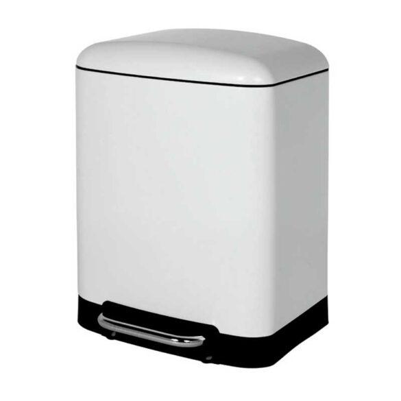 Κάδος απορριμάτων μπάνιου λευκός 6 λίτρων Soft Close