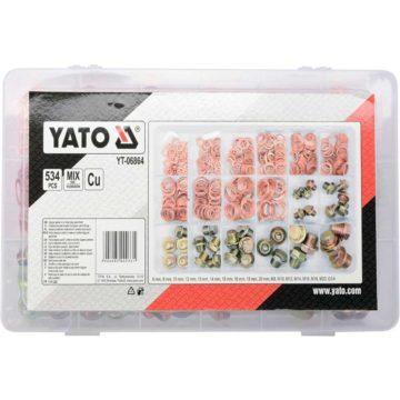 Βίδα λαδιού με λάστιχα σετ 534 τεμαχίων YATO YT-06864