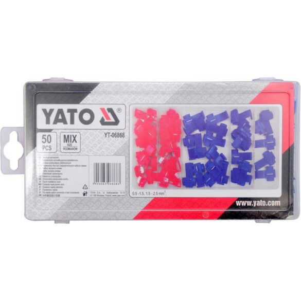 Κλέφτες καλωδίων - κλέμες σετ 50 τεμαχίων YATO YT-06868