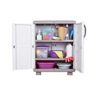 Κοντή πλαστική ντουλάπα με δύο ράφια ΗΒΗ