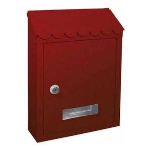 Γραμματοκιβώτιο μεταλλικό κόκκινο με κλειδαριά 21x29x6