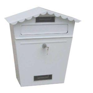 Γραμματοκιβώτιο Vintage μεταλλικό λευκό 36x30x11