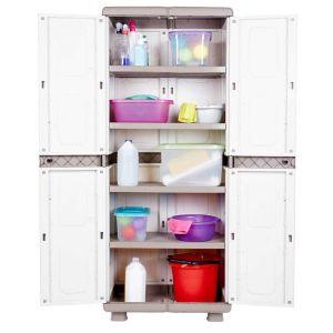 Πλαστική ντουλάπα με 4 ράφια και ποδαράκια ΗΛΕΚΤΡΑ
