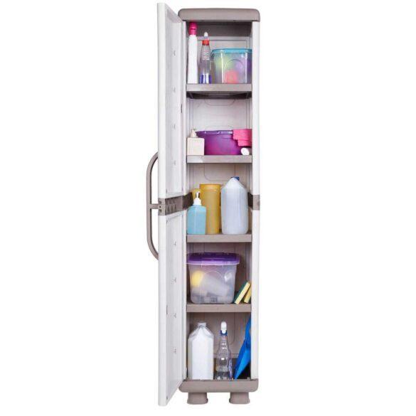 Μονόφυλλη ντουλάπα πλαστική με 4 ράφια ΙΡΙΔΑ