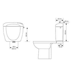 Καζανάκι τουαλέτας RONDO UNIVERSAL SIAMP