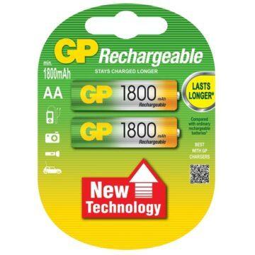 Μπαταρίες επαναφορτιζόμενες 1.2 V AA 1800 NiMH GP