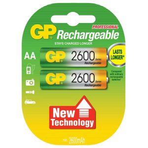 Μπαταρίες επαναφορτιζόμενες 1.2 V AA 2600 NiMH GP