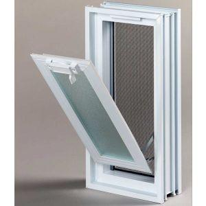 Πλαστικό παράθυρο με σήτα 18.9 x 38.4 cm