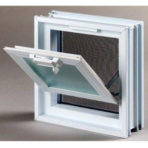 Πλαστικό παράθυρο με σήτα 23.9 × 23.9 cm