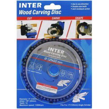 Δίσκος ξύλου γωνιακού τροχού με αλυσίδα INTER